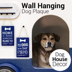 Hanging Dog Wall Plaque