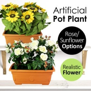 Rose Sunflower Realistic Artificial Potted Flower