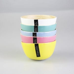 10cm Colorful Bamboo Bowl -1