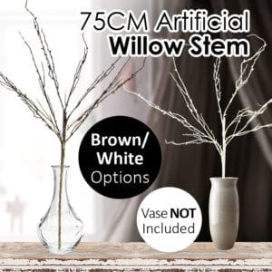 75CM Realistic Artificial Willow Stem