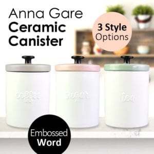 Anna Gare Embossed Ceramic Canister