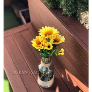 Artificial Sunflower Bunch 32cm Pack of 3