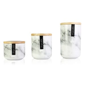 Ceramic Canister Marble Pattern