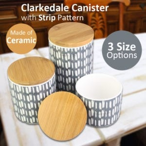 Clarkedale Canister with Strip Pattern