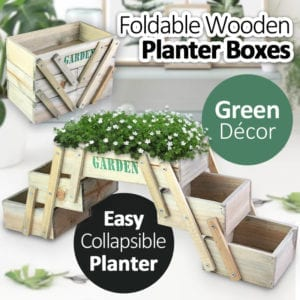 Collapsible Wooden Planter Boxes