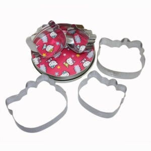 Licensed Sanrio 5pcs Pink Hello Kitty Cookie Cutter -5
