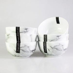 Marble Pattern Ceramic Bowl -1