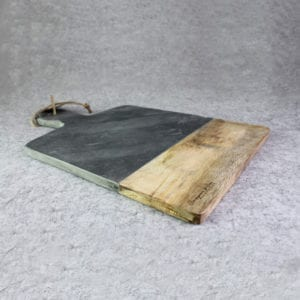 Marble Stone & Wood Serving Board