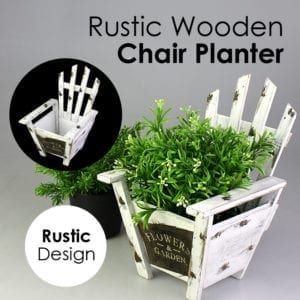 Rustic Wooden Chair Planter