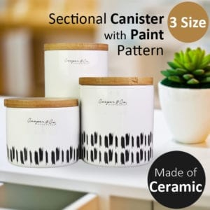 Sectional Canister with Paint Pattern