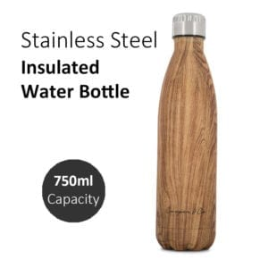 Stainless Steel Insulated Brown Water Bottle 750ml