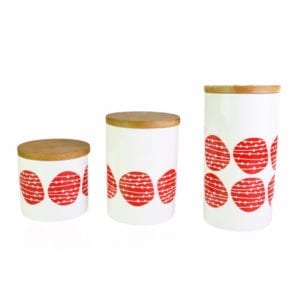 Watermelon Spot Ceramic Canister