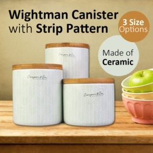 Wightman Canister with Strip Pattern