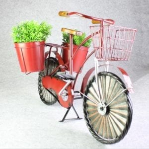 Red Bicycle Garden Plant Holder