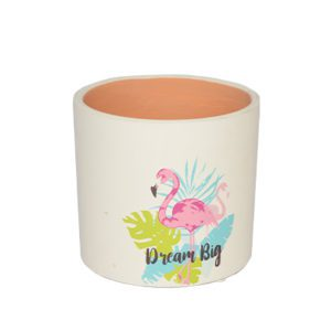flamingo ceramic pot