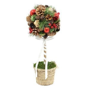 40CM Christmas Topiary Tree