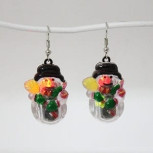 Christmas Flashing Earring Santa