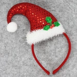 Christmas Headband Santa Hat Holly-1