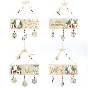 Christmas Welcome Hanging Wooden Sign