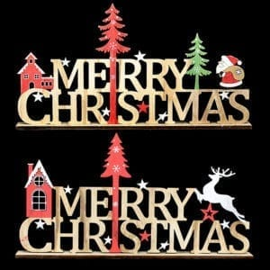 Merry Christmas Wooden Tabletop Letters