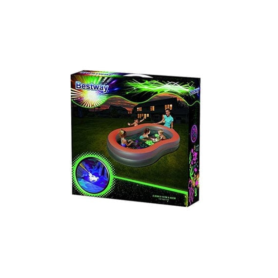 H2ogo! 9.2' x 62 inch x 18 inch Doodle Glow Inflatable Pool - Bestway