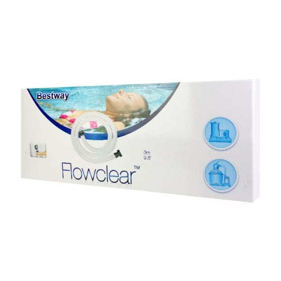 Bestway Flowclear Above Ground Pool Hose & Nut 9.8-Feet x 1.5-Inch Extra Long Hose fits - Swimming pool
