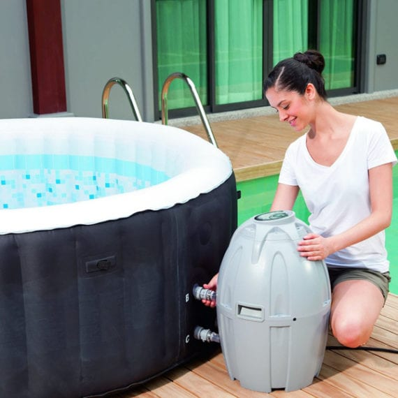 Hot tub - Lay-Z-Spa Hawaii Hot Tub, Airjet Square Inflatable Spa, 4-6 Person
