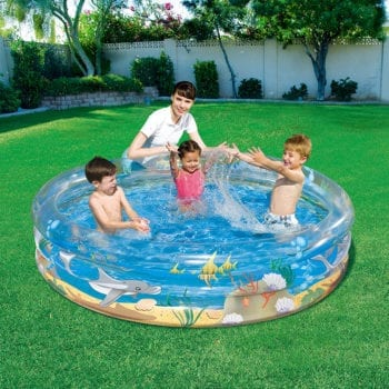 Bestway Inflatable 2.01m Transparent Sea Life Play Pool