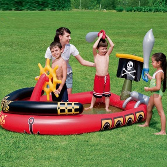 Swimming pool - H2ogo! Inflatable Pirate Play Pool Center