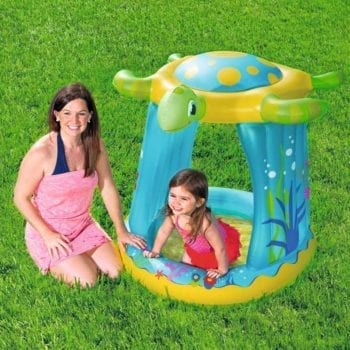 Bestway 1.09m x 96cm x 1.04m Turtle Totz Play Pool