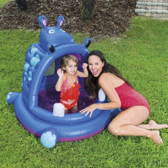 Bestway 1.12m x 99cm x 97cm Covered Hippo Baby Pool