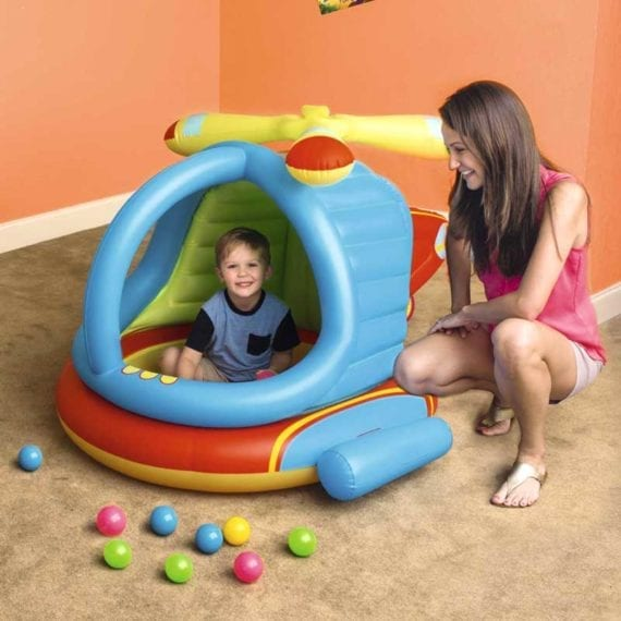 Bestway 1.40m x 1.27m x 89cm Helicopter Ball Pit