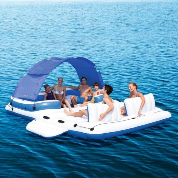 Bestway 3.89m x 2.74m Tropical Breeze Floating Island