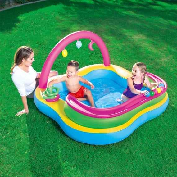 Bestway-Inflatable-Kids-Play-Center-Pool-With-Pit-Ball-and-Ring-Toss
